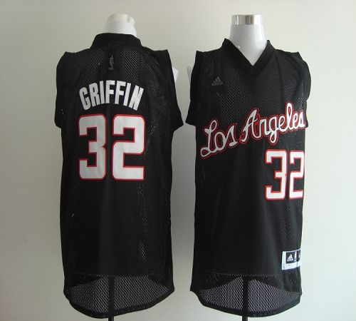 6fb58afad5c Clippers  32 Blake Griffin Black Revolution 30 Stitched NBA Jersey